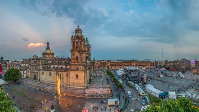 Zocalo-Platz in Mexiko-City