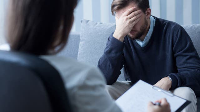 Therapeut und Patient