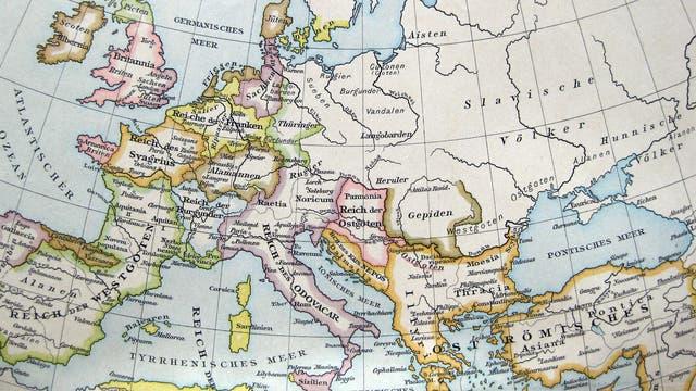 Europas Grenzen zur Zeit der Völkerwanderung