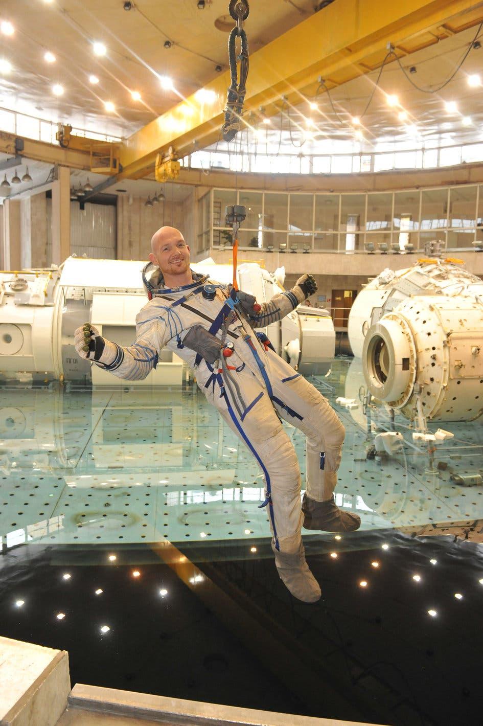 Alexander Gerst beim Training im Sternenstädtchen bei Moskau