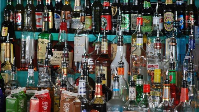 Alkohol an der Bar