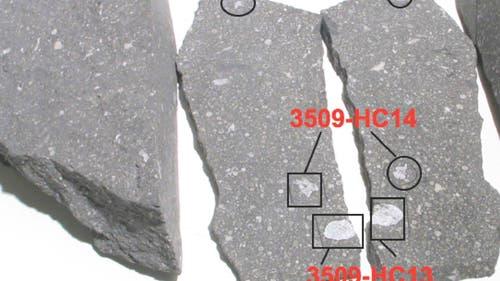 Der Meteorit Allende mit CAI-Einschlüssen