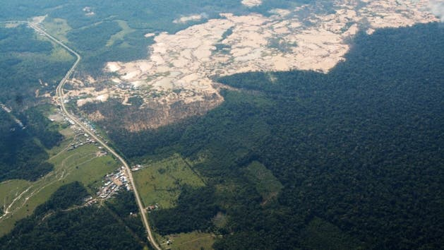 Straßenbau im Amazonasbecken