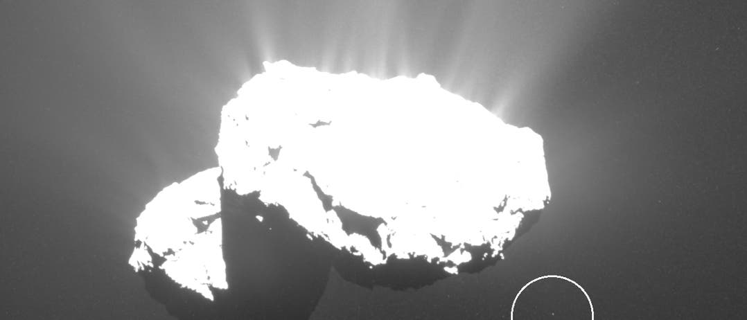 Ein Tschurimond (Aufnahme der Raumsonde Rosetta)