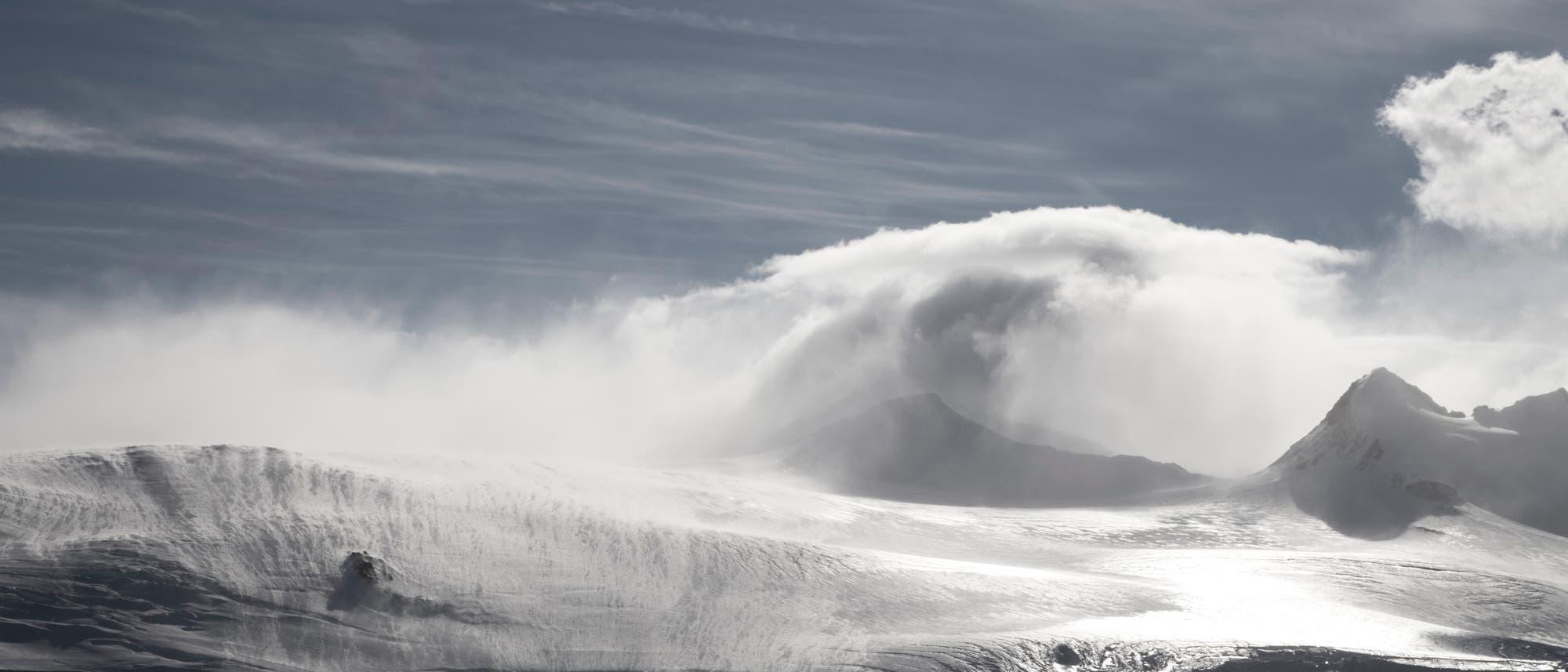 Windiges Wetter in der Antarktis
