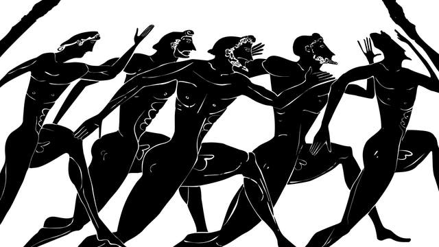 Athleten beim Wettlauf