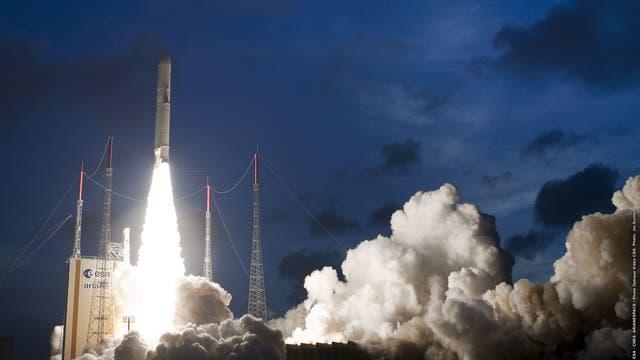 Start einer Ariane 5 Rakete
