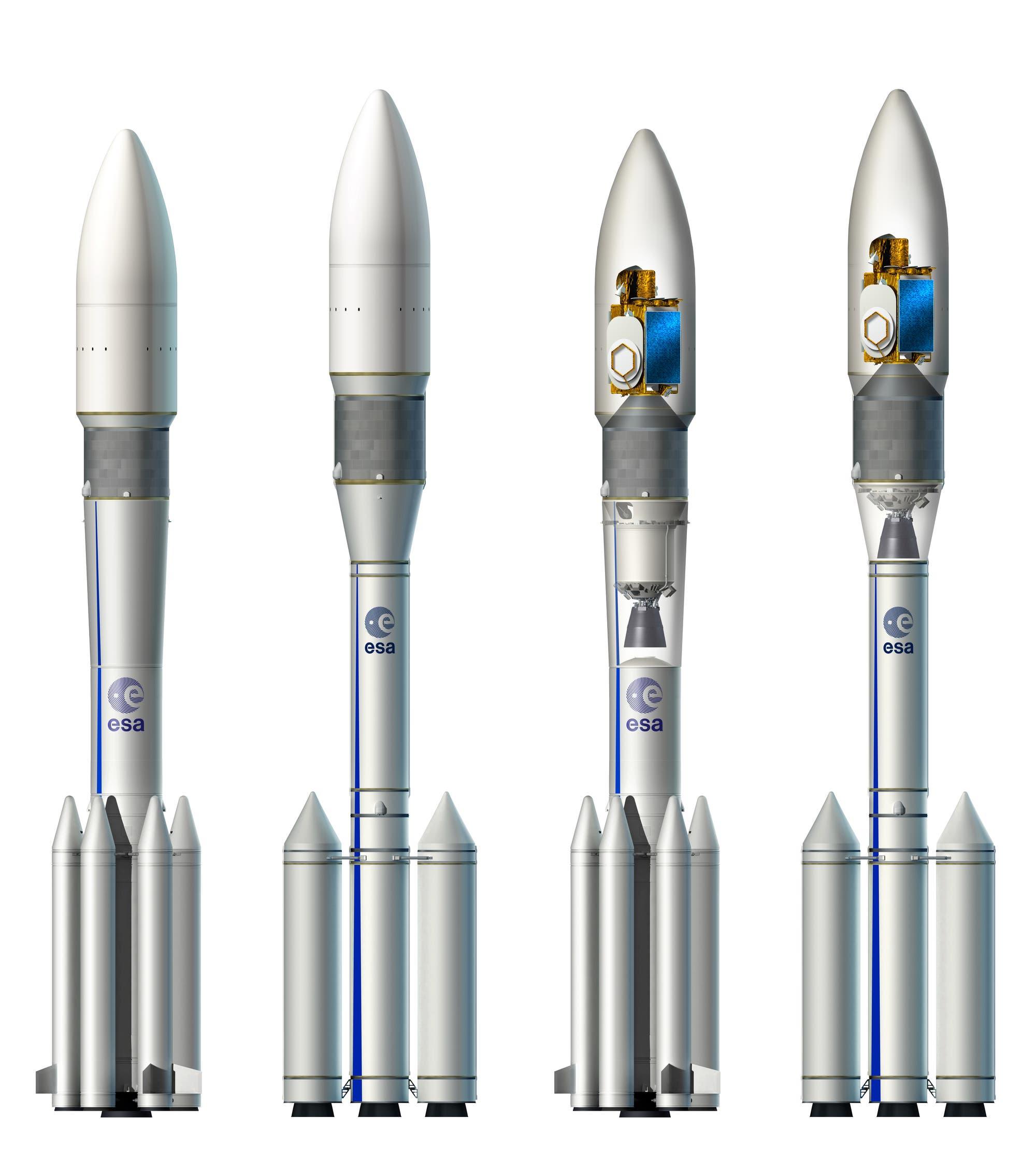 Untersuchte Konzepte für die Ariane 6