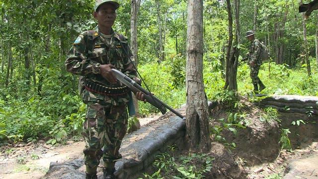Bewaffneter Ranger in Thailand