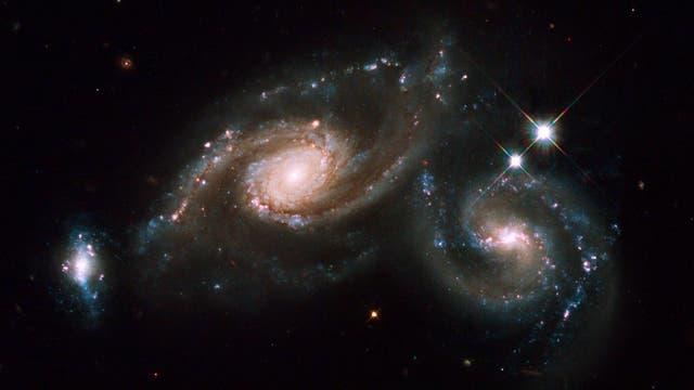 Verschmelzende Spiralgalaxien