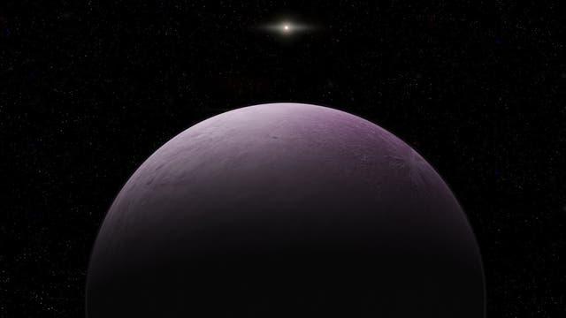 Der fernste Außenposten des Sonnensystems: 2018 VG18 (künstlerische Darstellung)