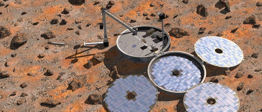 Beagle-2 auf dem Mars (Computergrafik)