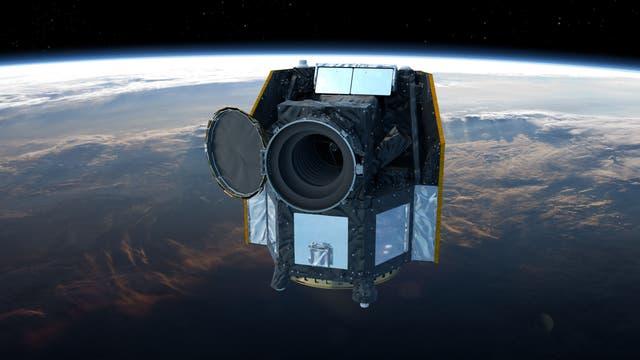Künstlerische Darstellung des Weltraumteleskops CHEOPS