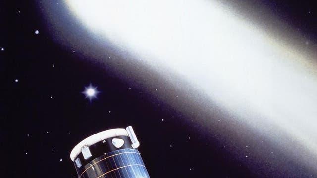 Giotto erkundet den Kometen Halley