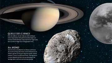 Saturn mit Hyperion und Titan