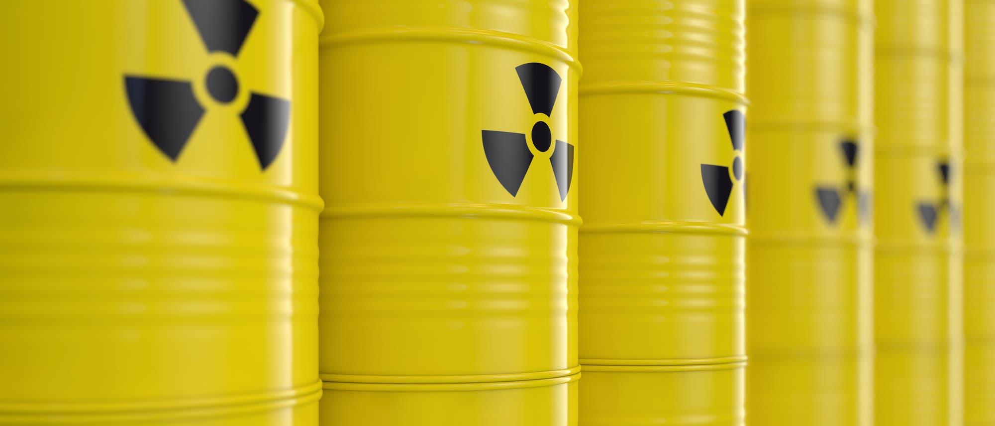 Fässer mit radioaktivem Inhalt