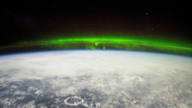 Aurora borealis in der Ionosphäre der Erde