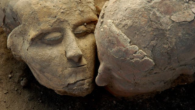 Schädel aus der Siedlung Tell Aswad