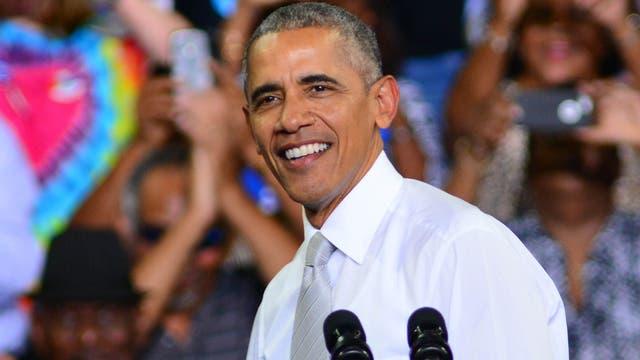 US-Präsident Barack Obama bei einem Wahlkampfauftritt für Hillary Clinton in Florida