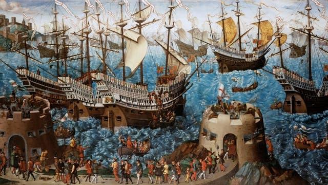 Henry VIII. schifft auf der Mary Rose ein