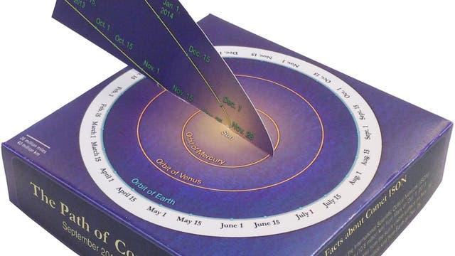 Die Bahn des Kometen ISON (Papiermodell)
