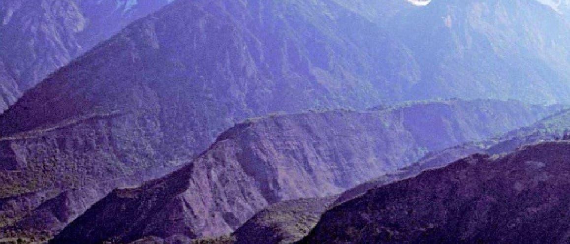 Übergang vom Tibet-Plateau in den Himalaja