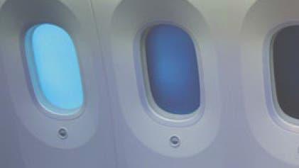 Elektrochrome Flugzeugfenster