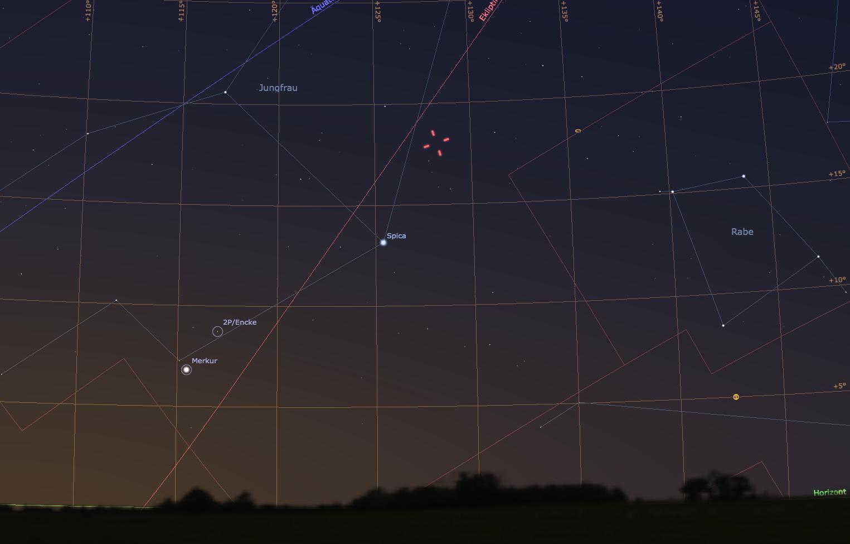 Der östliche Morgenhimmel am 16. November 2013