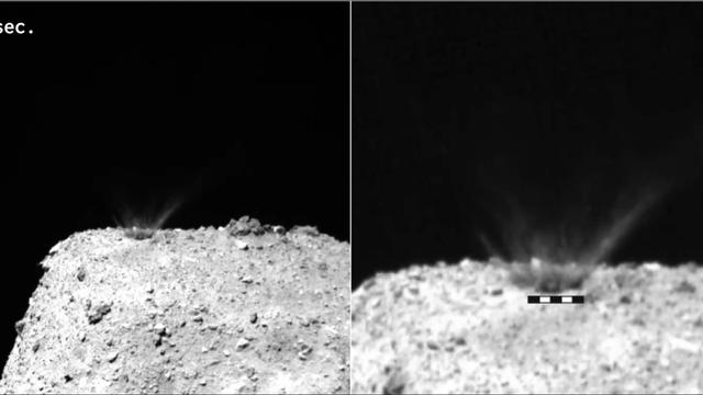 Kupferkugel trifft Asteroid