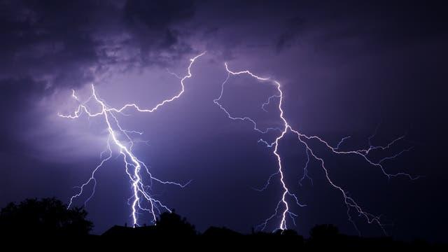 Unwetter mit Blitzen