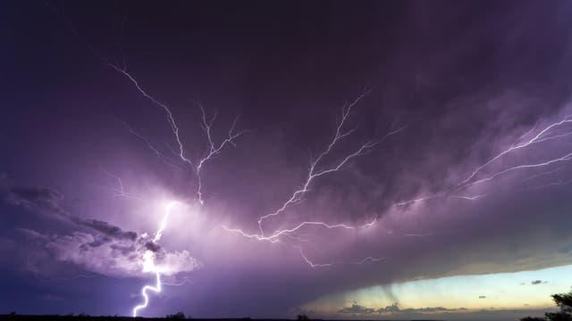Heftiges Gewitter in Boulder, Colorado