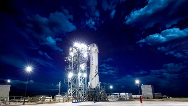 New Shepard auf dem Startplatz