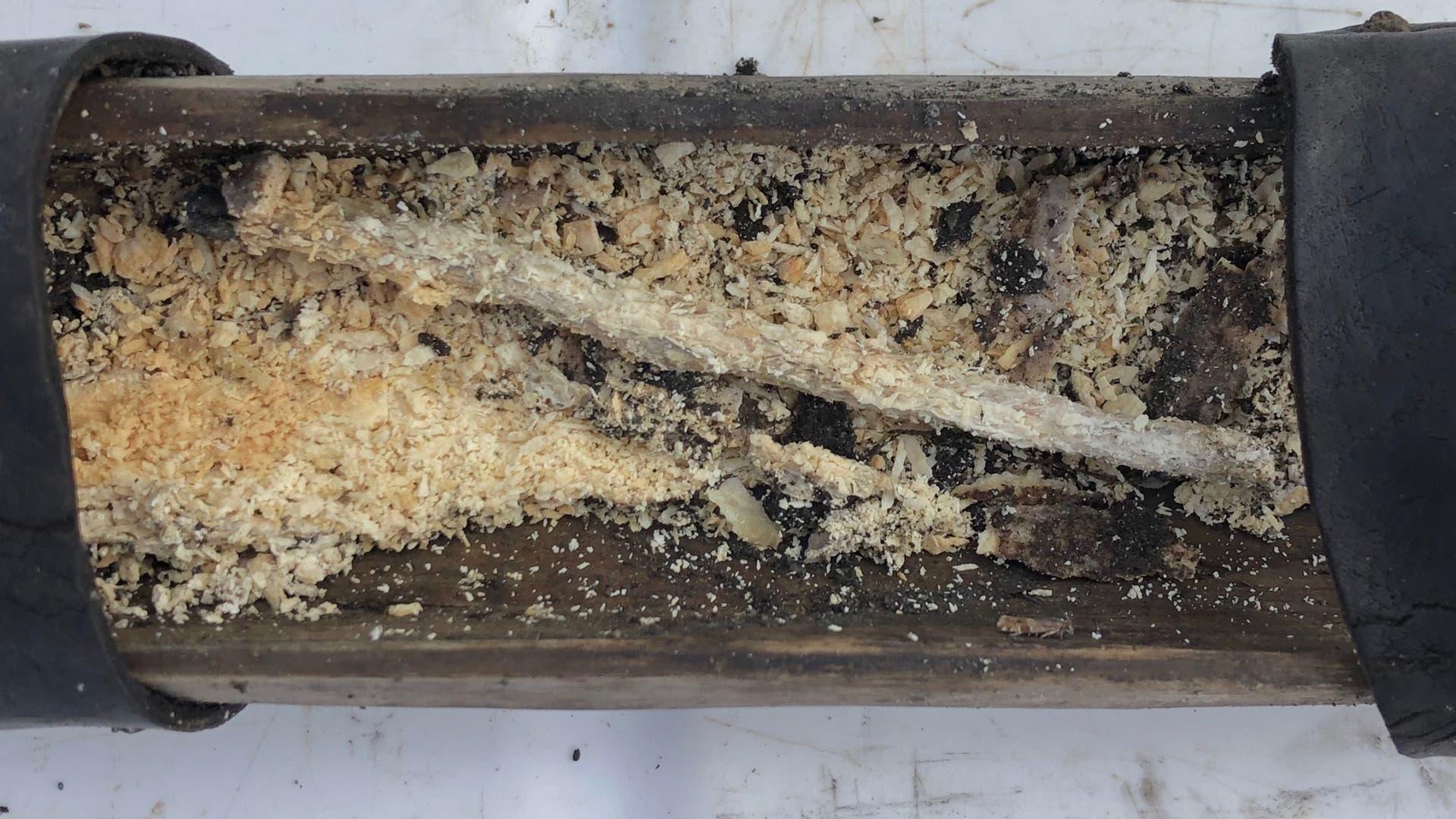 Holzkästchen aus dem Gletschereis