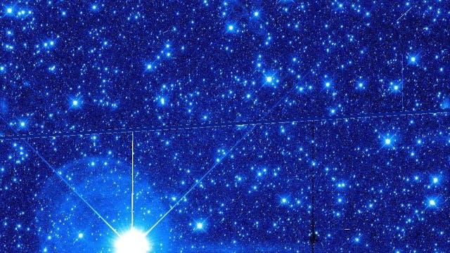 Hubble-Rohaufnahme einer Region im Sternbild Schütze für die Suche nach Kuipergürtelobjekten für New Horizons