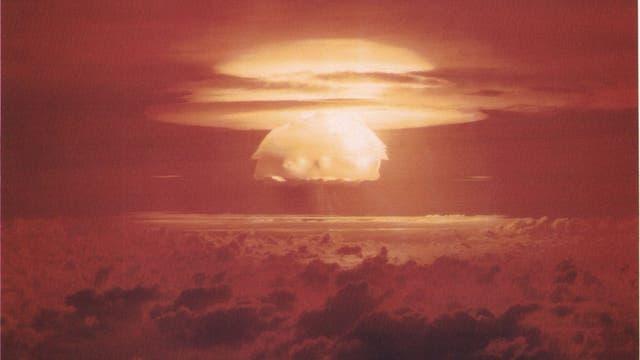Atomwaffentest der Castle-Bravo-Bombe in der Südsee