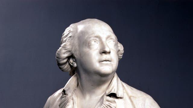 Büste des Grafen Cagliostro, die Skulptur entstand um 1790