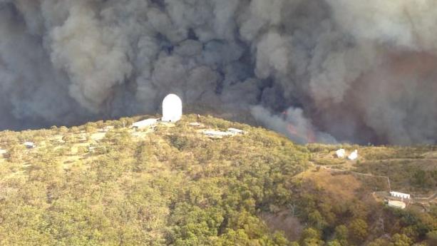 Buschfeuer bedrohen das Siding Spring Observatory
