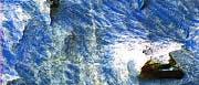 Falschfarbenbild aus dem Candor Chasma