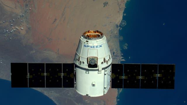 Die Dragon-Raumkapsel ist bereits als Versorgungsmission für die ISS im Einsatz.