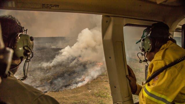 Der Flächenbrand von 2017 vernichtete einen Großteil des Nationalparks Chapada dos Veadeiros, einem UNESCO-Weltnaturerbe in Zentralbrasilien