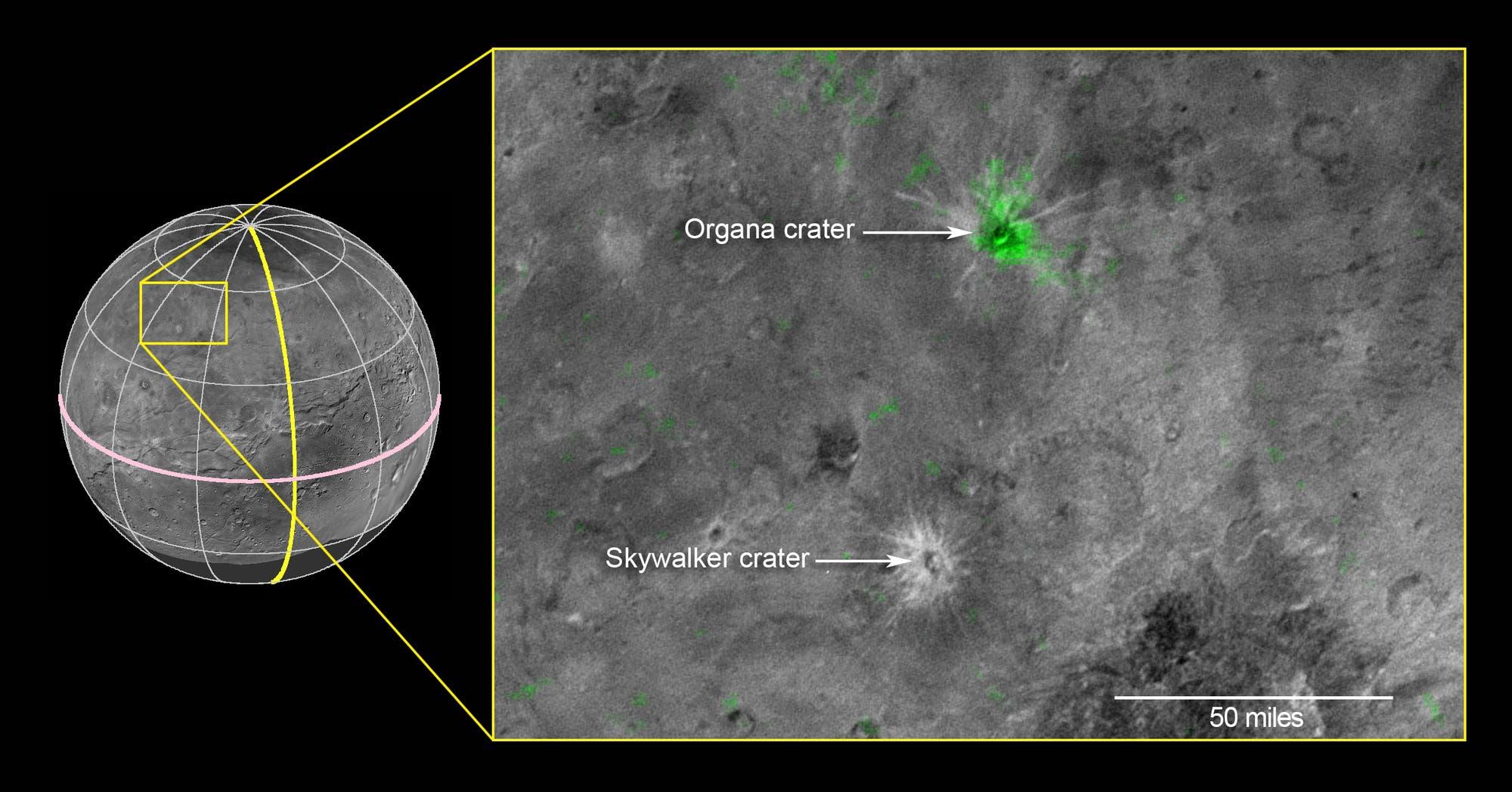 Ammoniak auf der Charonoberfläche
