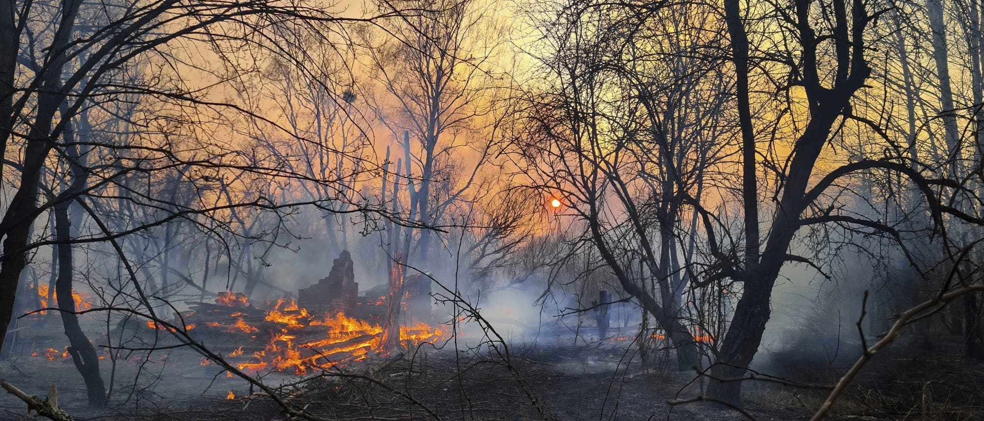 Brand in Tschernobyl