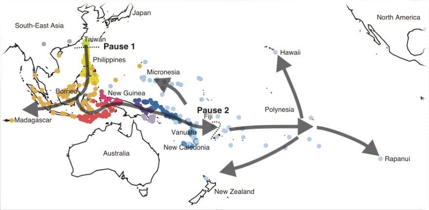 Ausbreitung der Austronesier