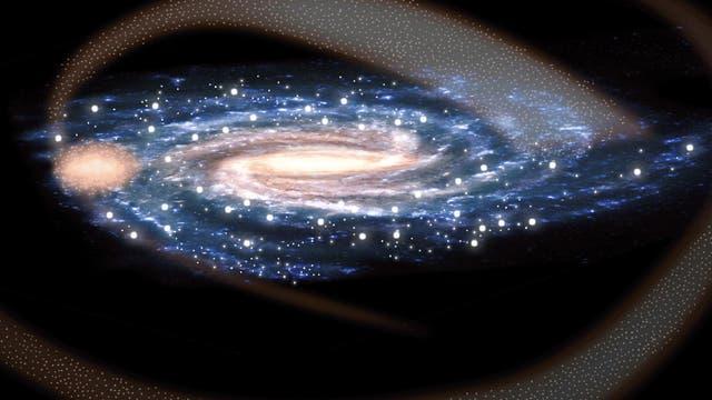 Kollision der Galaxie Sagittarius mit der Milchstraße