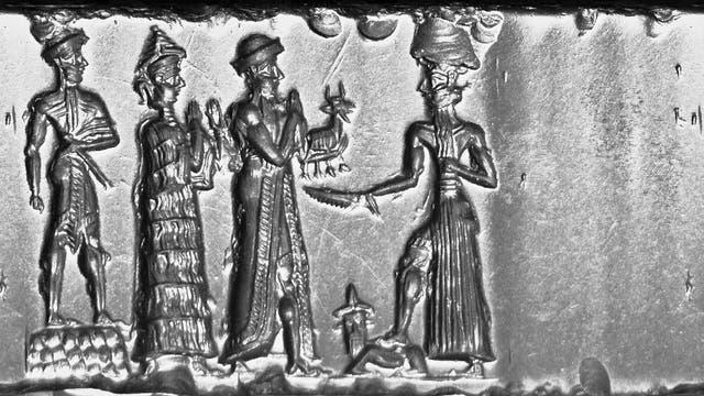 Babylonische Opfergabe vor dem Sonnengott