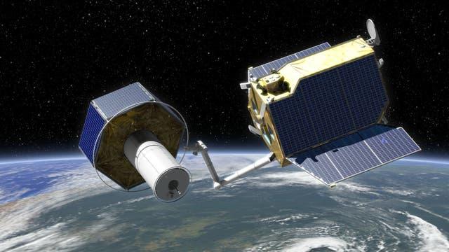 Die Satellitenmission DEOS (künstlerische Darstellung)