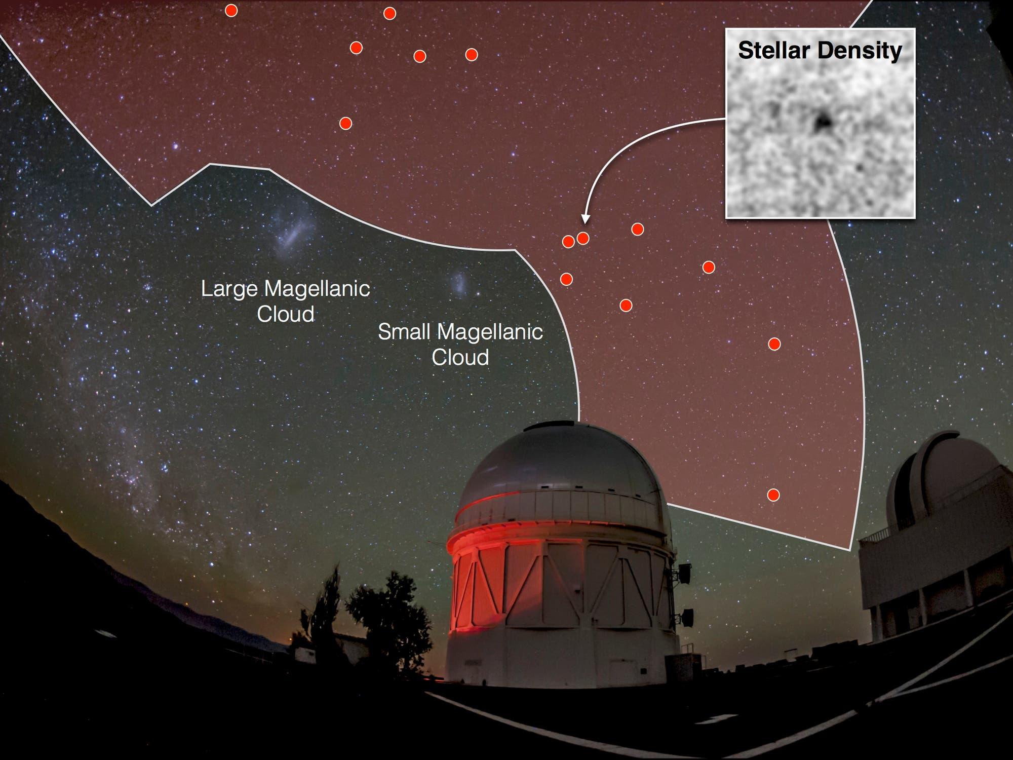 Leuchtschwache Zwerggalaxien im Umfeld unseres Milchstraßensystems (Übersichtskarte)