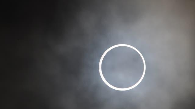 Die ringförmige Sonnenfinsternis vom 15. Januar 2010 von den Malediven gesehen