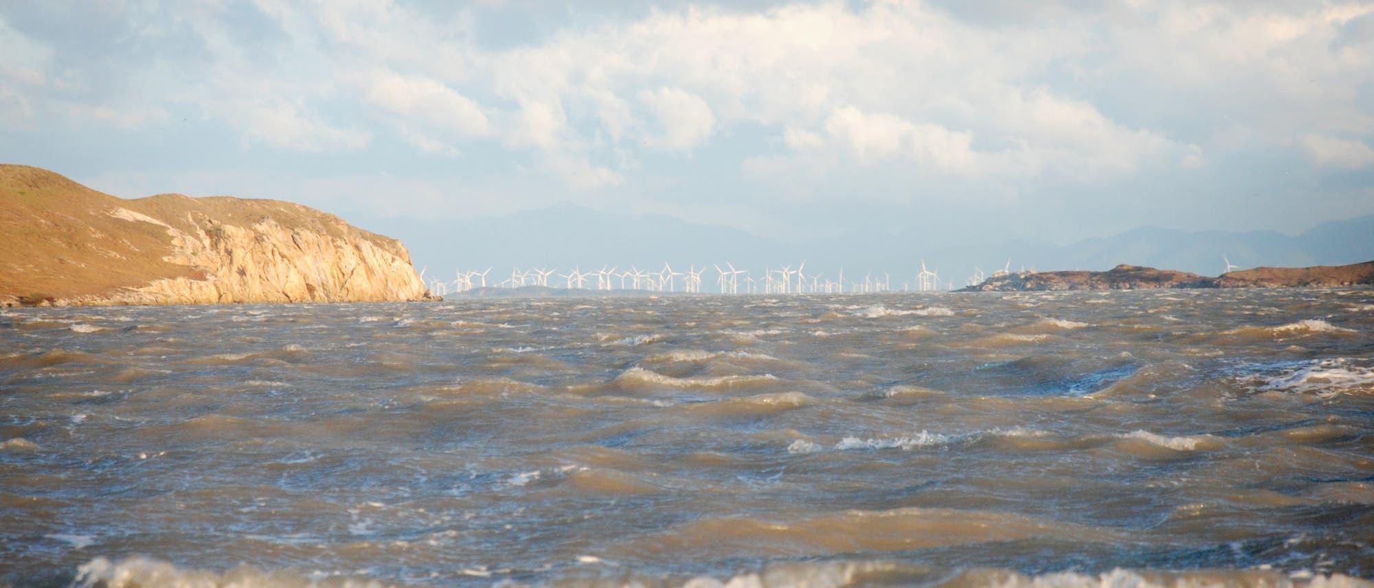 Windpark in der Lagune von Tehuantepec