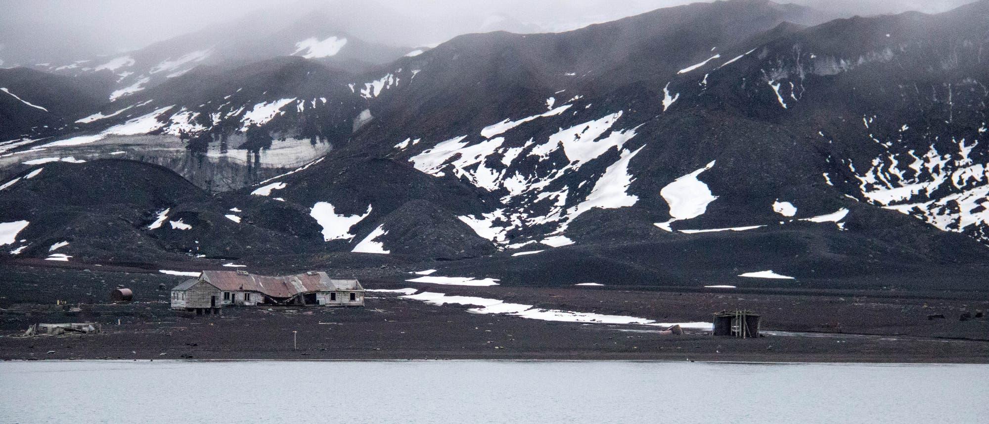 Deception Island vor der Antarktis